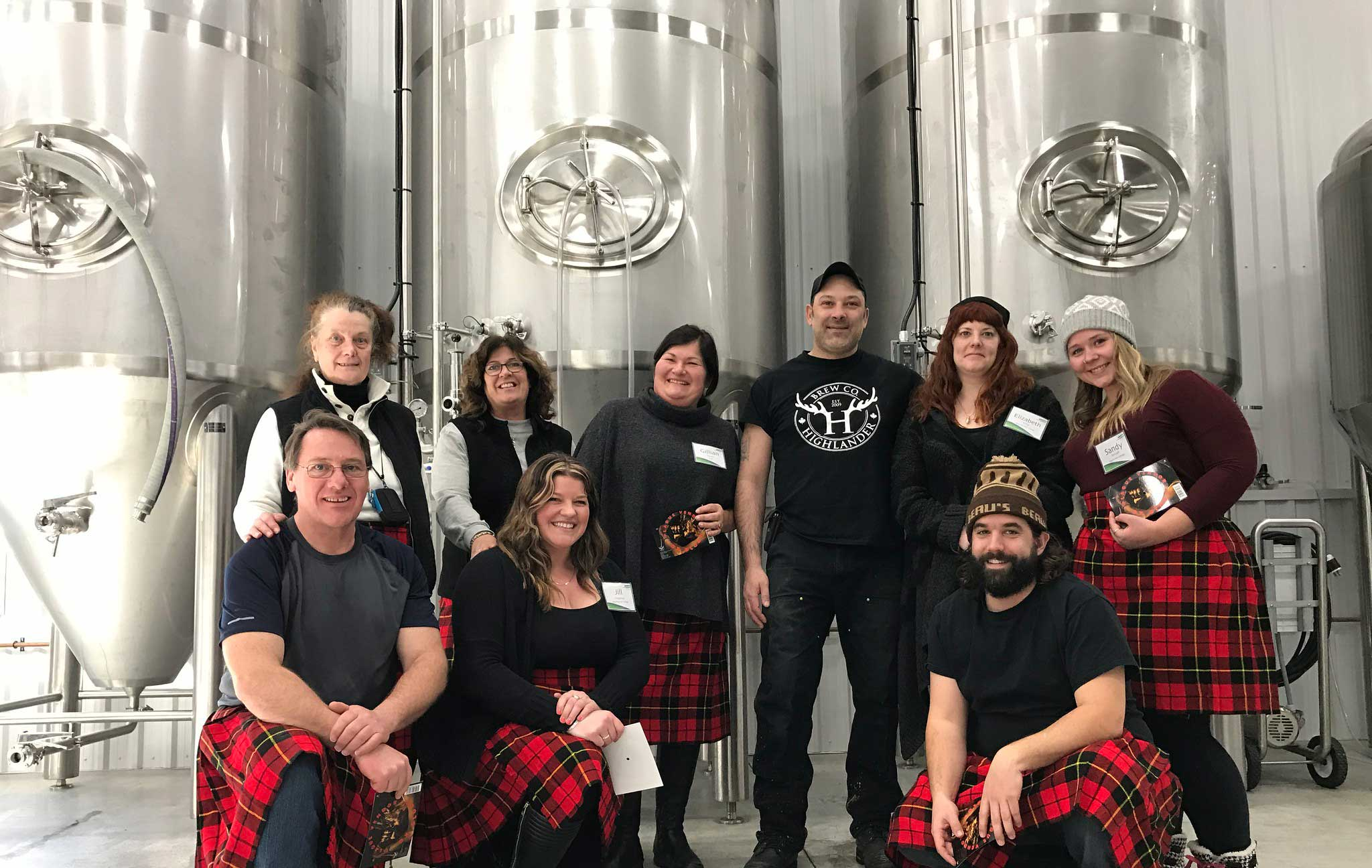 A brewery tour in the local area