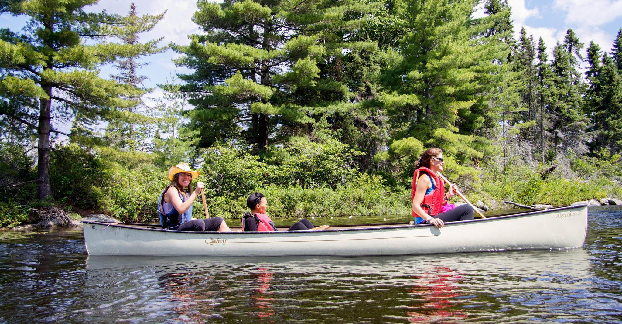 Canoeing on the Amable du Fond River